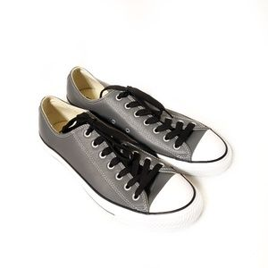 Converse | Leather Gray All Star Chucks Sneakers